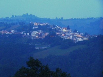 Abruzzen Arsita by night