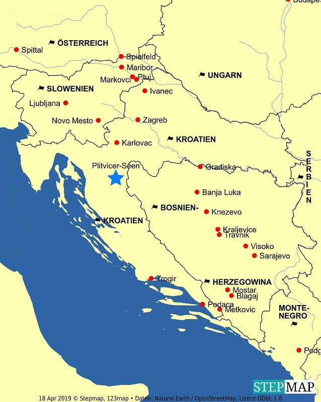 Jugoslawien Karte.Ex Jugoslawien