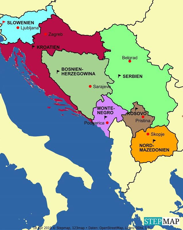 Alte Jugoslawien Karte.Ex Jugoslawien