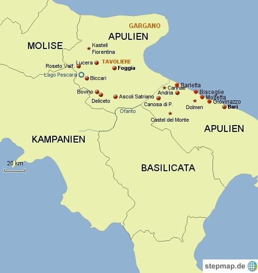 Apulien Karte Italien.Italien Apulien Nord