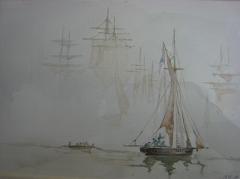 "Ari Hantke ""boats in the fog"" nach Andrej Tron"